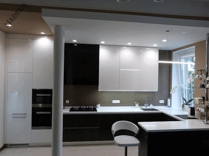 Кухня Керама Черная